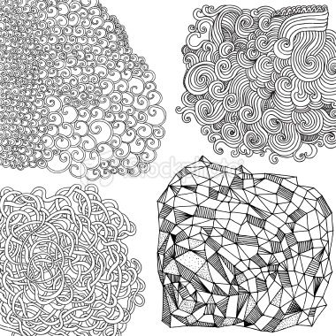 Vector File Of The Hand Drawn Patterns Isolated On White Design Amazing Pattern Art Definition