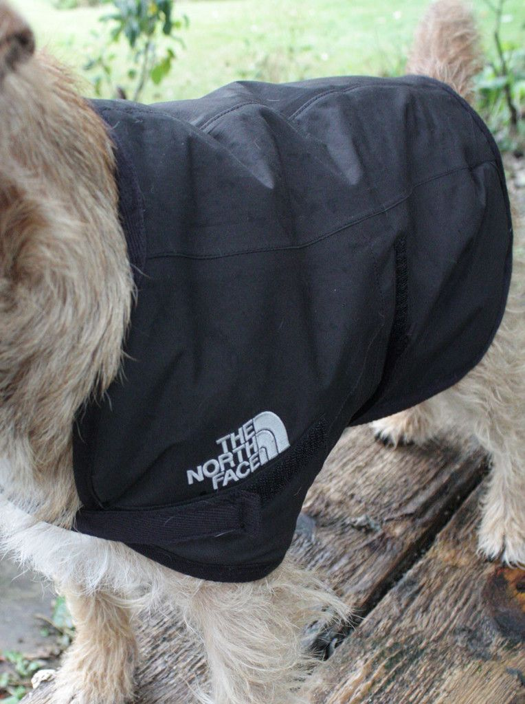 Recycled North Face Dog Coat | Waterproof Dog Coat | made to