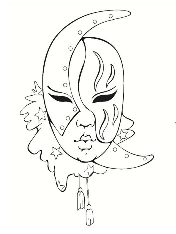 Coloriage masque venitien page 2 inspiration - Dessins de carnaval ...