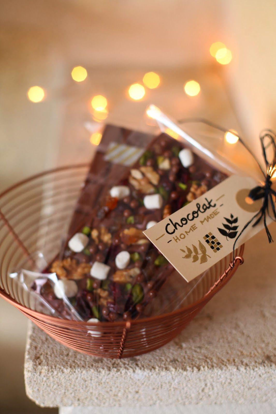 Chocolat (HOME MADE) | Chocolats faits maison, Panier gourmand noel, Recette noël à offrir