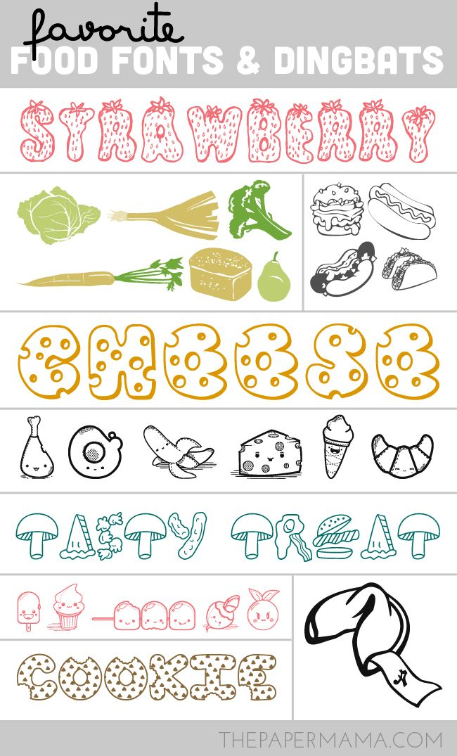 My Favorite Food Fonts and Dingbats | fonts, fonts and fonts