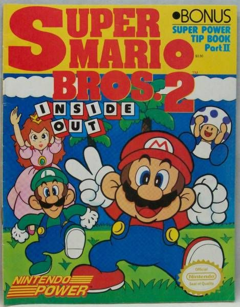 Super Mario Bros  2 Inside Out Super Power Tip Book Part II