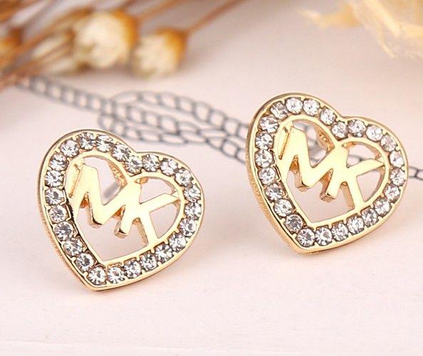 da5d2052a884ee AD004 MK simple crystal heart shape stud Earring | Michael Kors ...
