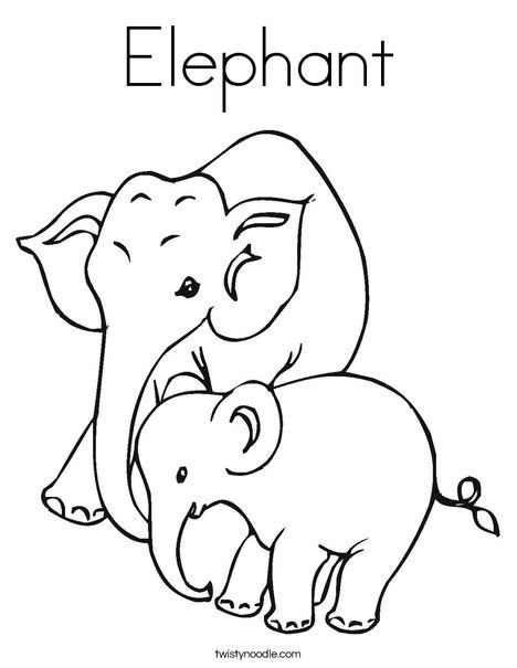 elephant coloring page twisty noodle has all sorts of different variations of coloring pages