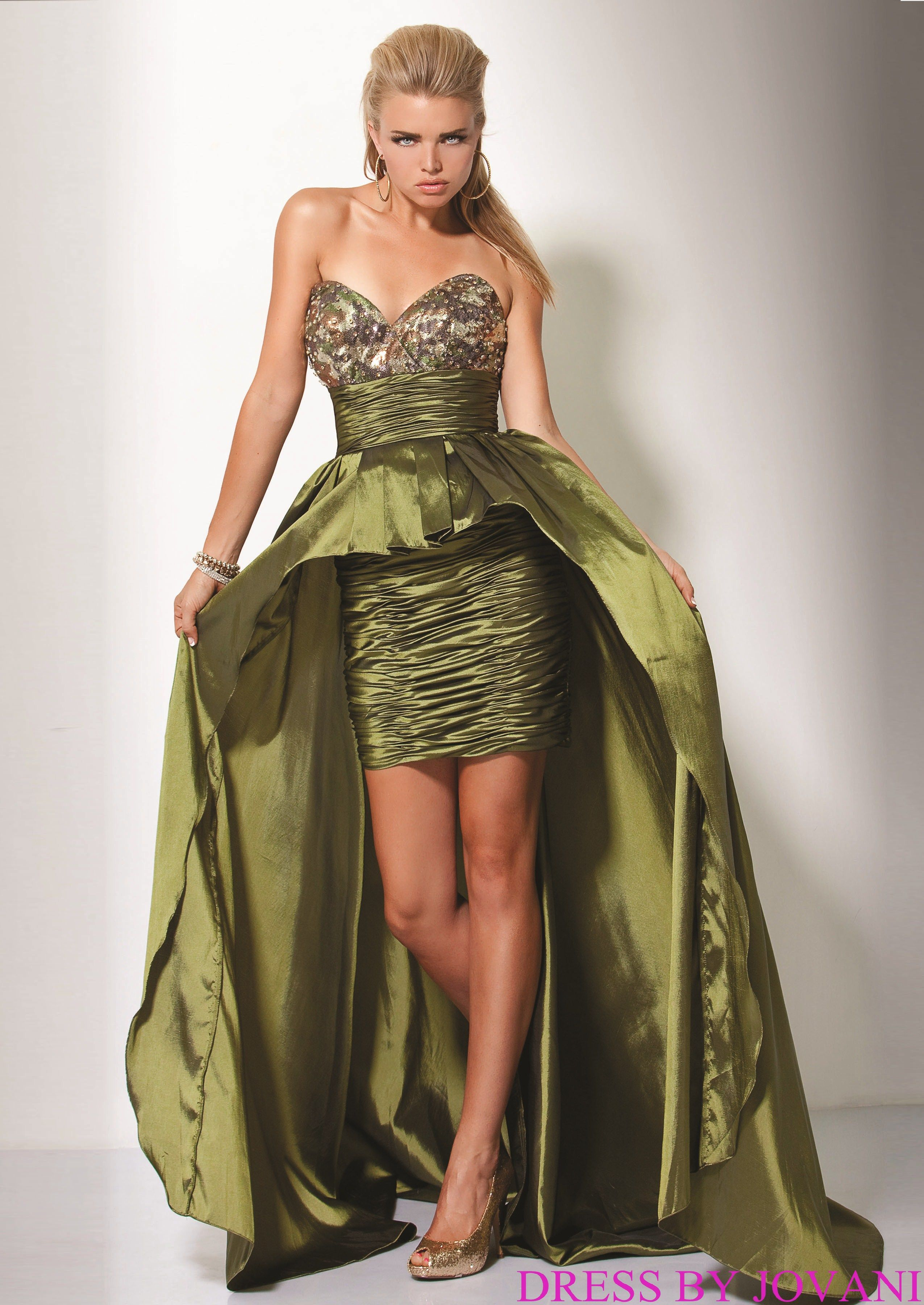 d9d43a4f419a0 Camo Formal Dresses for Sale | Camouflage sequin bodice Prom Dress by  Jovani | Shop Runway Dresses