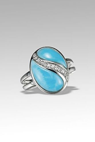 MarahLago Duality Larimar Ring with Diamonds Engagement Rings