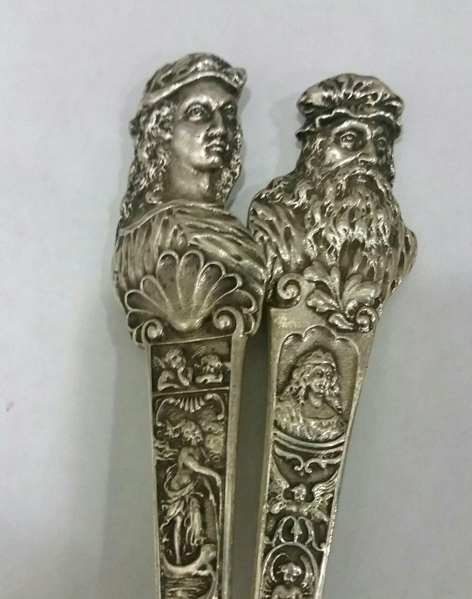 Raphael and Da Vinci Old Masters Sterling Silver @antiquecupboard - Raphael And Da Vinci Old Masters Sterling Silver @antiquecupboard