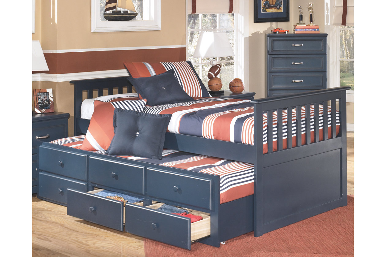 Leo Twin Trundle Bed Ashley Furniture Homestore Twin Trundle Bed Home Decor Bedroom Bed Furniture