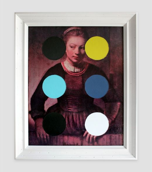 Thrift Store Rembrandt with Circles, Chad Wys