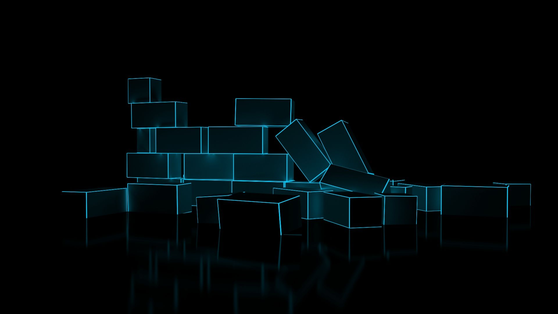 3d Blue Blocks Hd Wallpaper 1920x1080 Id 26854 In 2020 Desktop Wallpaper Design Wallpaper Pictures Black Wallpaper