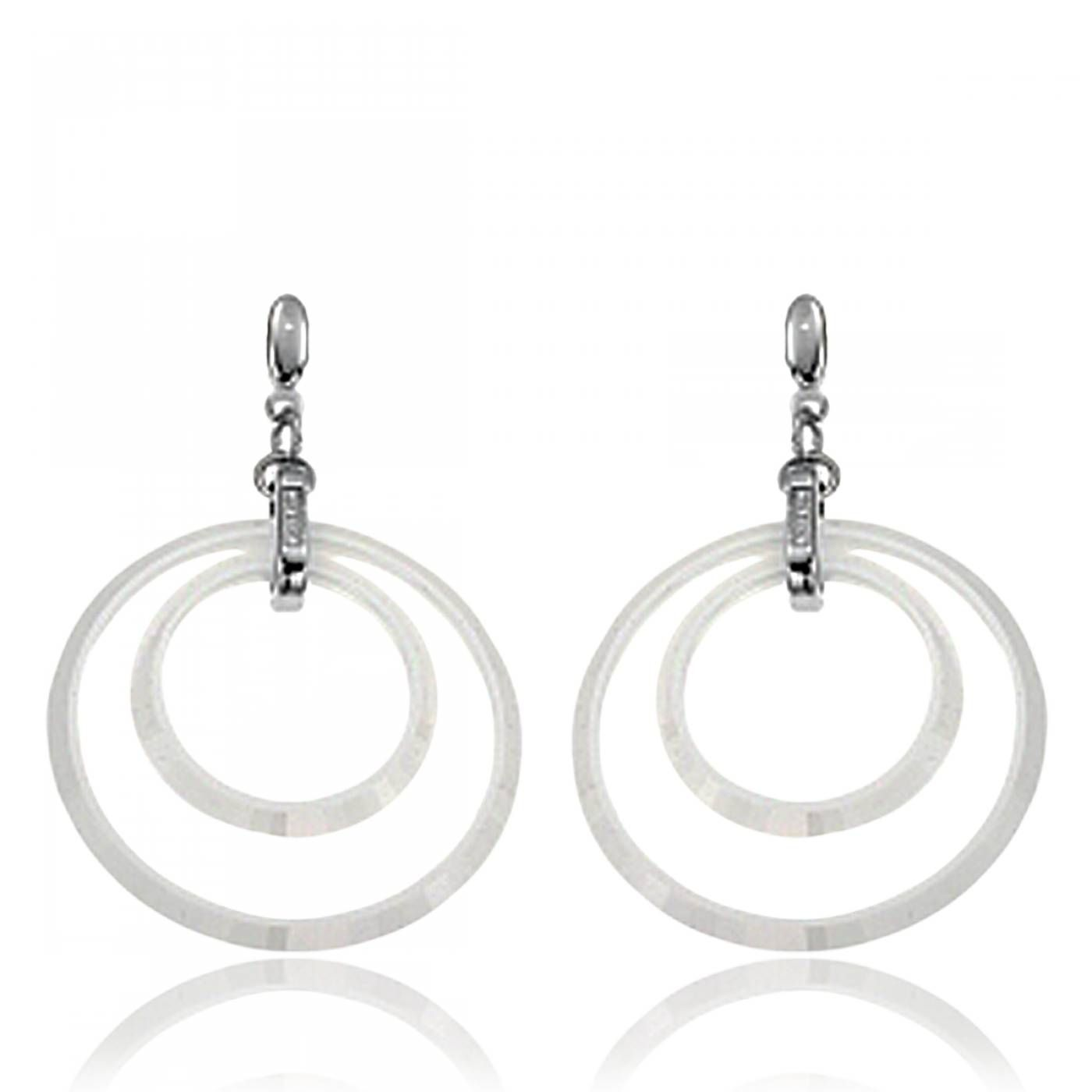 Ladies ceramic Eleganza white earrings - Cerruti 1881