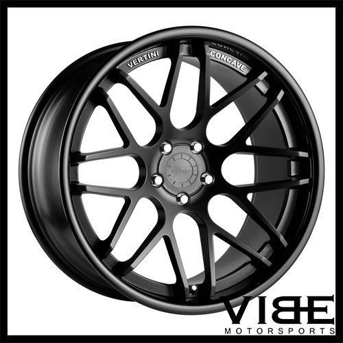 22 Vertini Magic Black Concave Wheels Rims Fits Audi D4 A8 Quattro