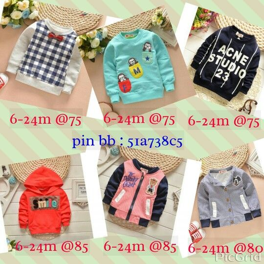 347366955 Sweater dan jaket baby boy 6-24 month