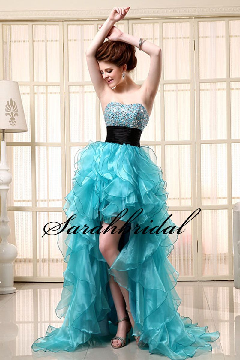 Long Sky Blue Sweetheart 8th Grade Graduation Dresses For Girls ...