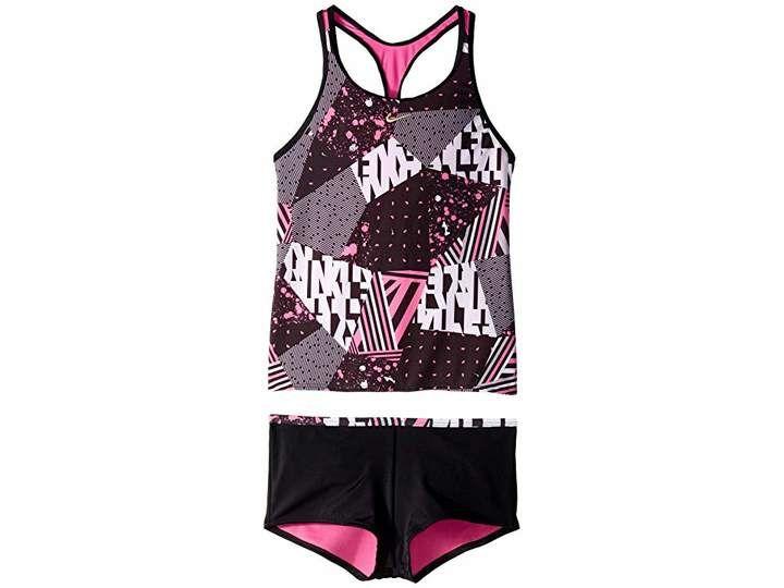 d250dad5b4f Nike Mash Up Racerback Tankini and Kick Shorts (Little Kids/Big Kids ...