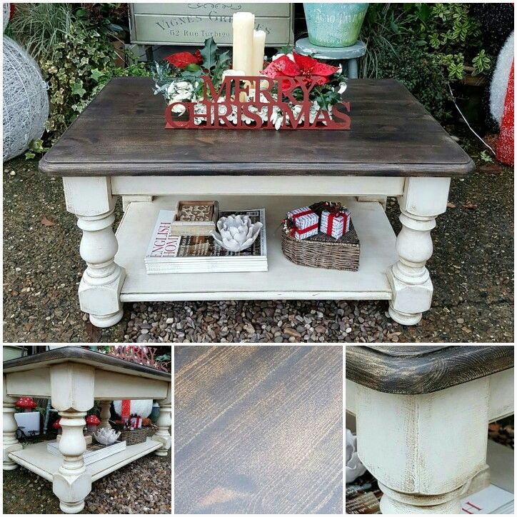 Shabby Chic Coffee Table In Annie Sloan S Old White With A