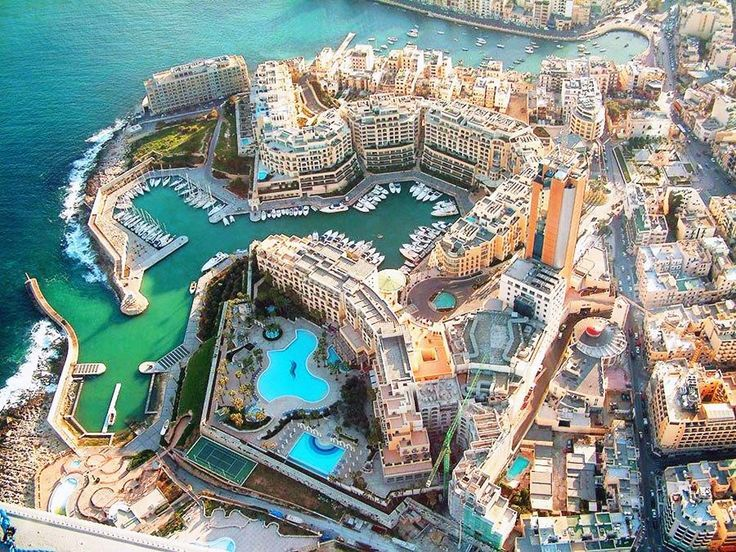 St Julians view from the sky, Malta Island: