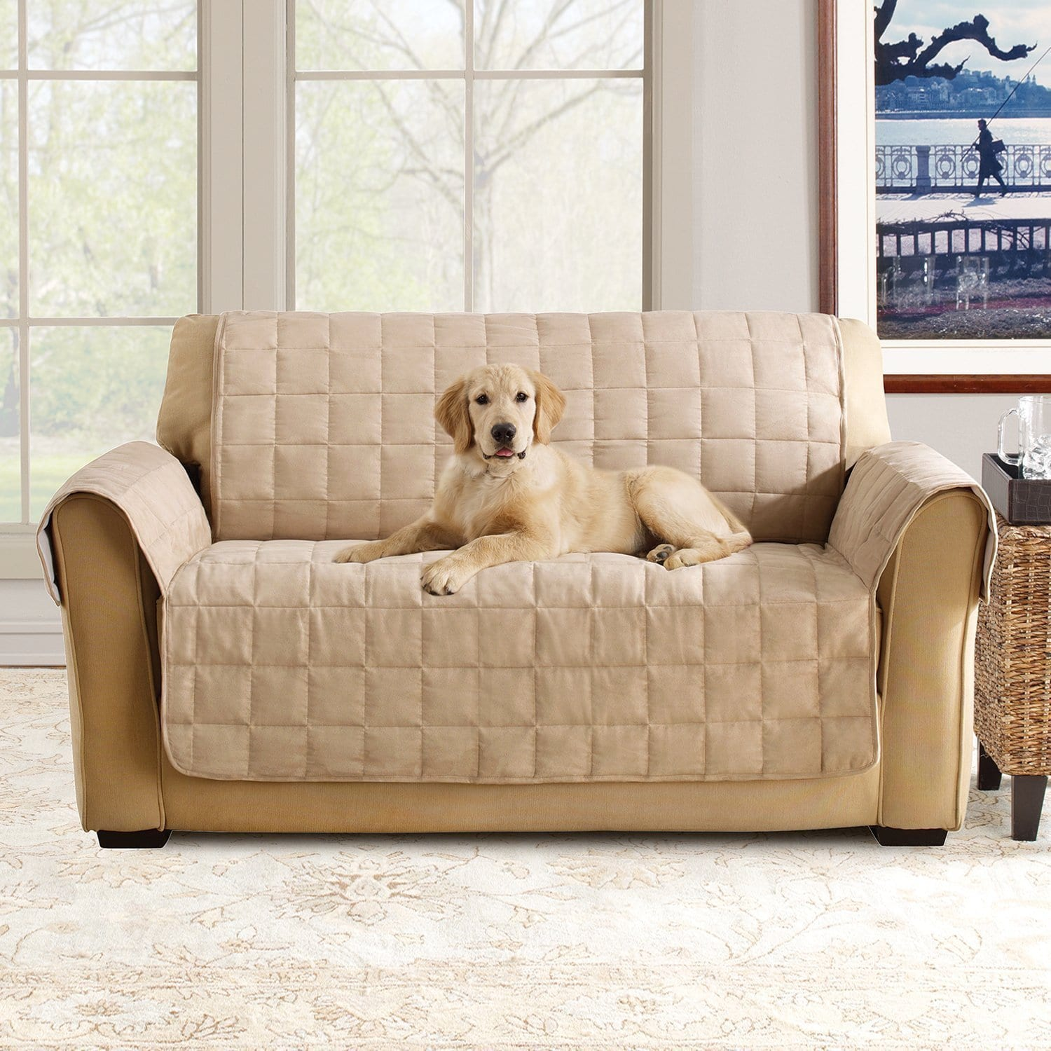 Sure Fit Ultimate Waterproof Quilted Loveseat Furniture