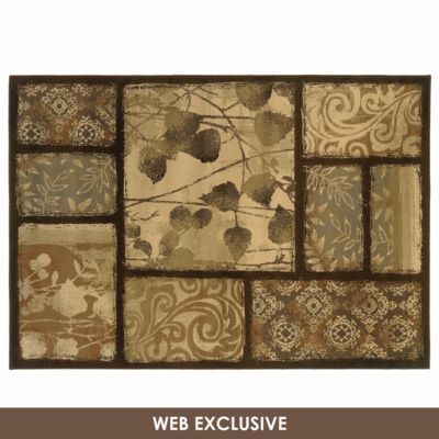 Darcy Brown Patch Area Rug 8x10 199 99 For Livingroom From Kirklands Com Only Plastic Carpet Runner Buying Carpet Rugs