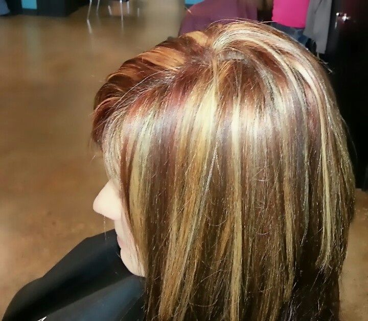 Hi Lites With Color In Hair Google Search Hair