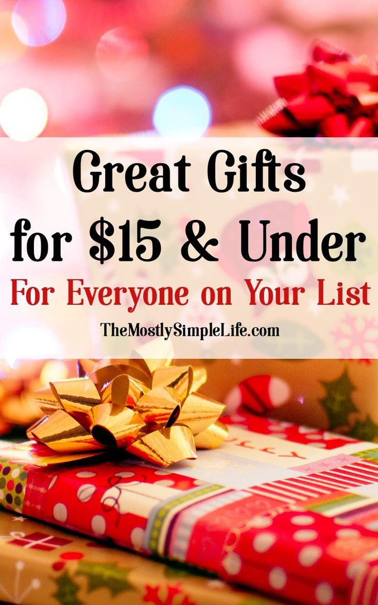 Gifts for $15 and Under (that people will want!) | Crazy for ...