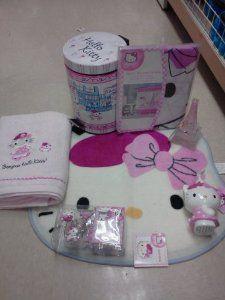18pc Hello Kitty Bathroom Set Shower Curtain Hooks Bath Mat Towel