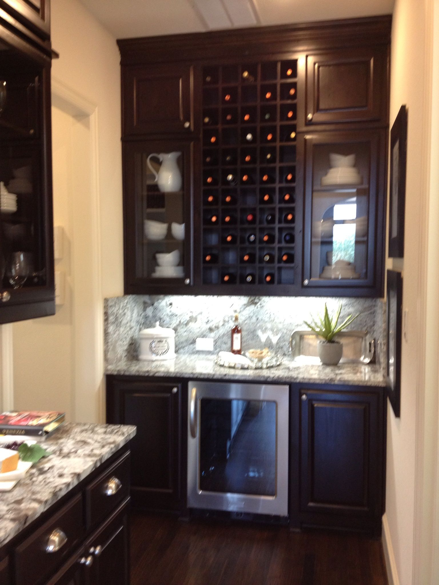 Idea to update the butler pantry area wine bar wine for Convert kitchen desk to pantry