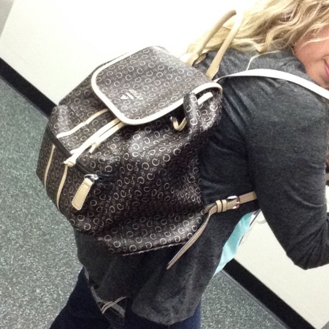 8f8bca400807 A must have! Guess backpack with tons of storage for everyday use!   tooawesome