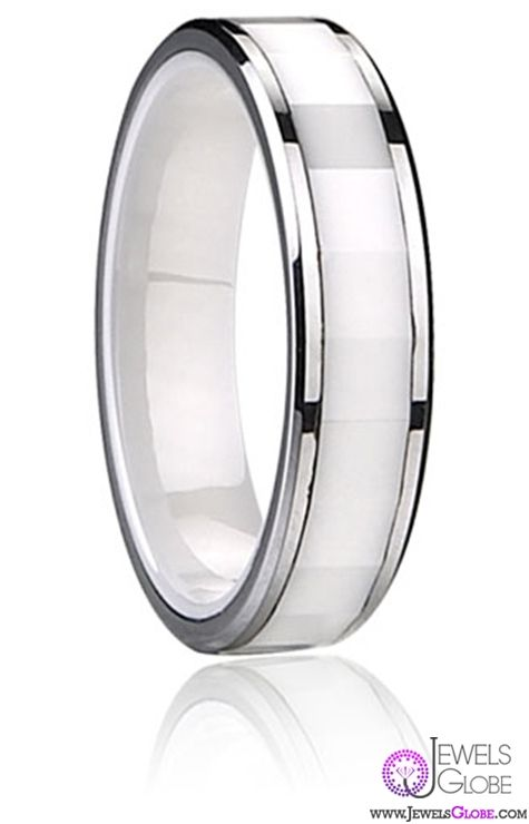white ceramic wedding bands for men hot designs - Ceramic Wedding Rings
