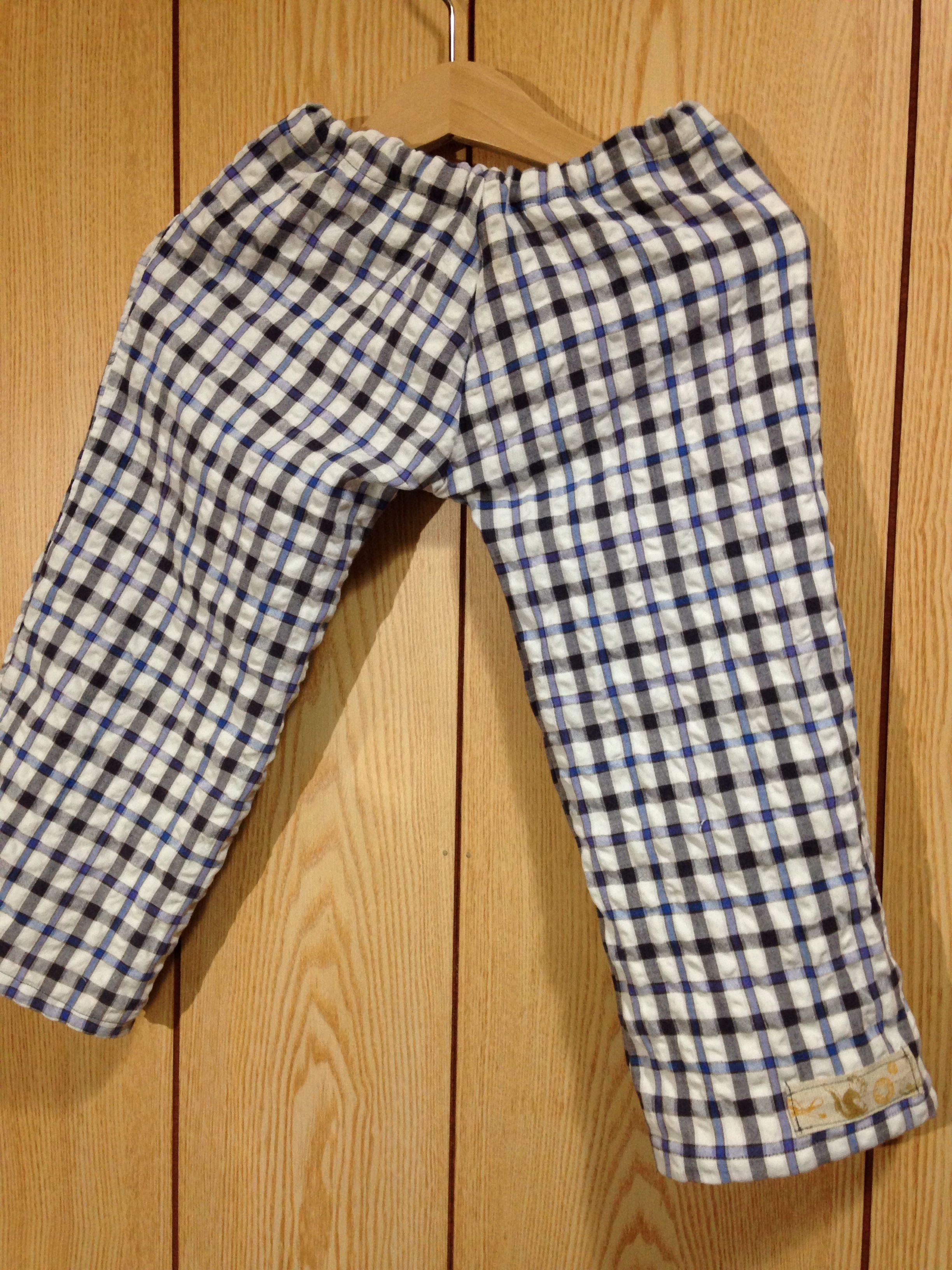 爺さんのパジャマズボン→孫のパジャマズボン