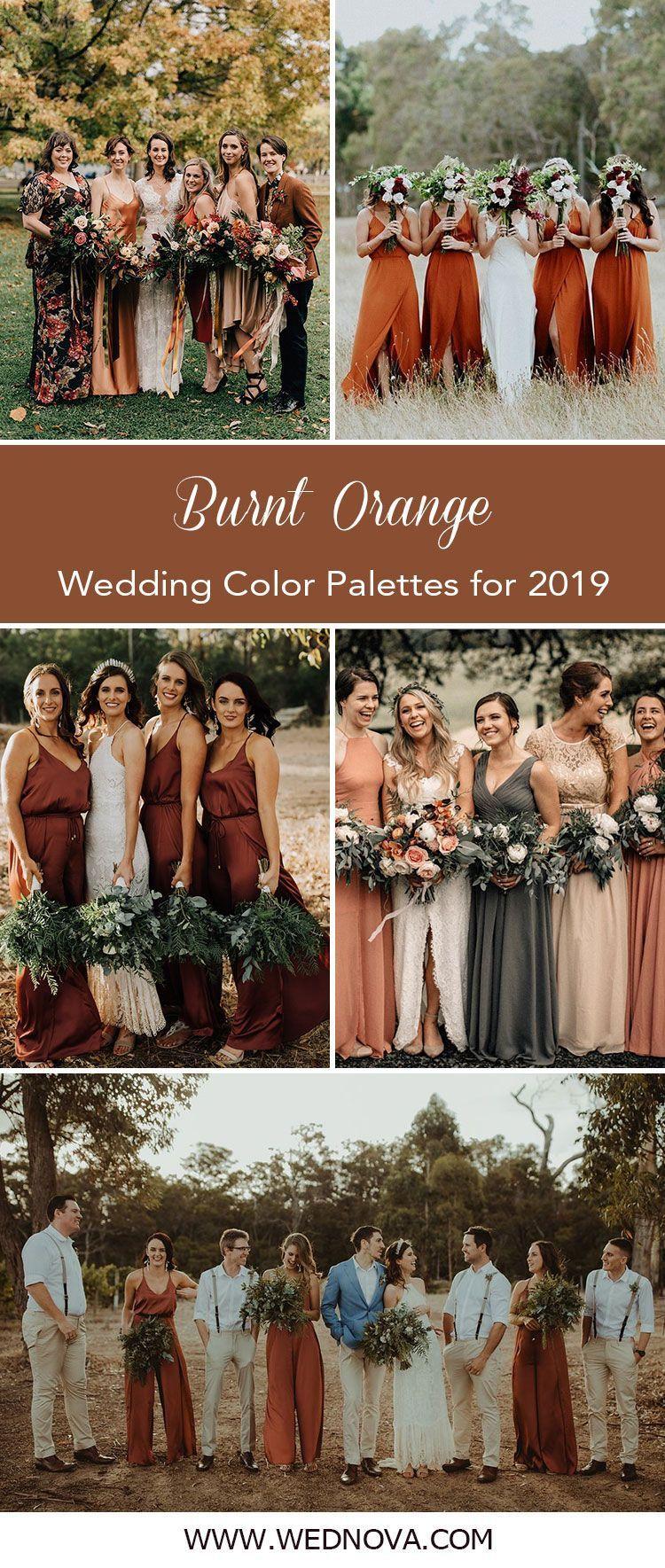 Tendencia 15 Ideas Para El Quemado De Naranja Vestidos De Dama De Honor Para El Ano 2019 Orange Bridesmaid Dresses Orange Wedding Colors Orange Bridesmaid