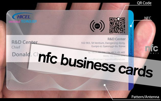 Hicel Launches Nfc Business Cards Business Card Pattern Cards Business Cards