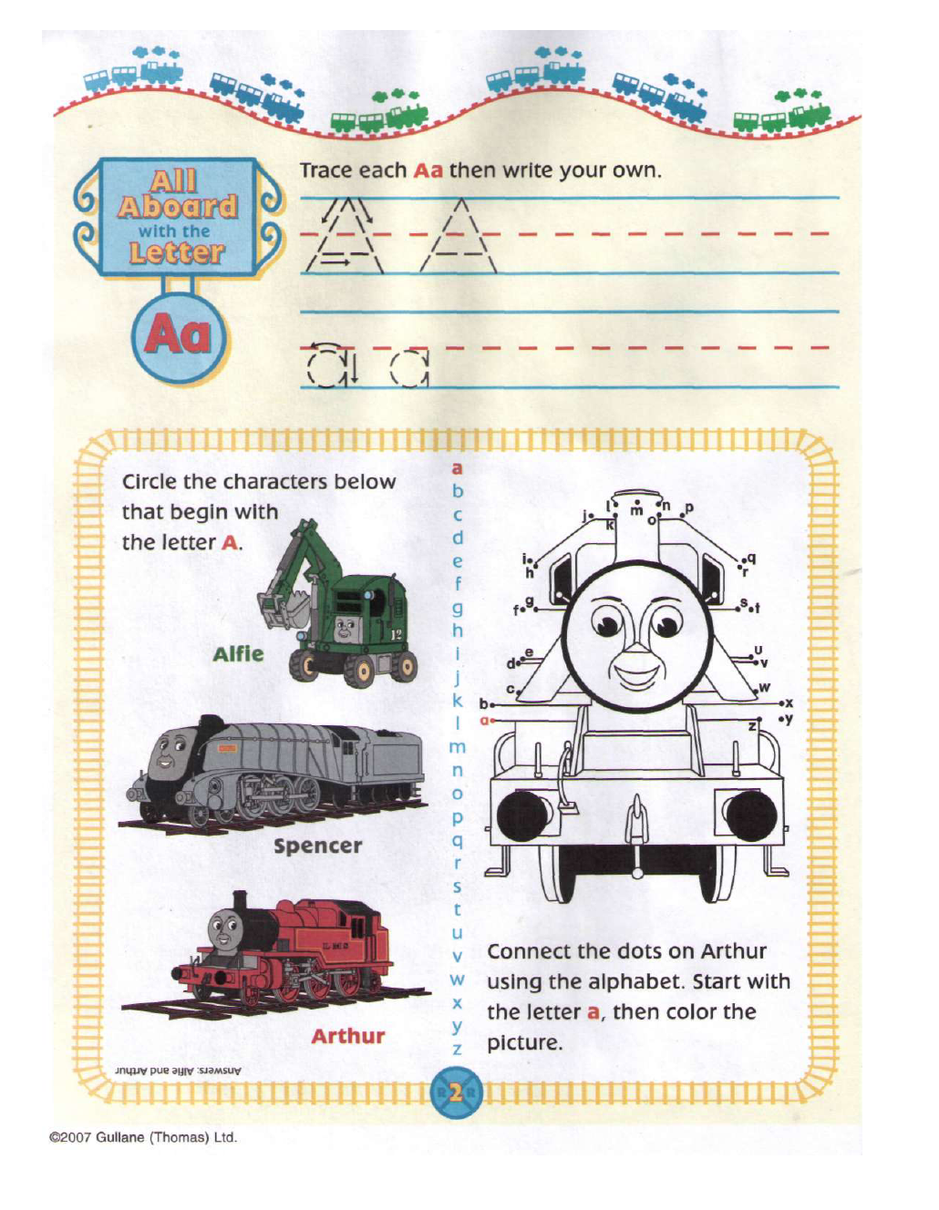 20 Thomas And Friends Alphabet Practice Book In