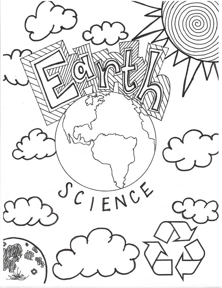 Earth Science Coloring Sheet Science journal cover