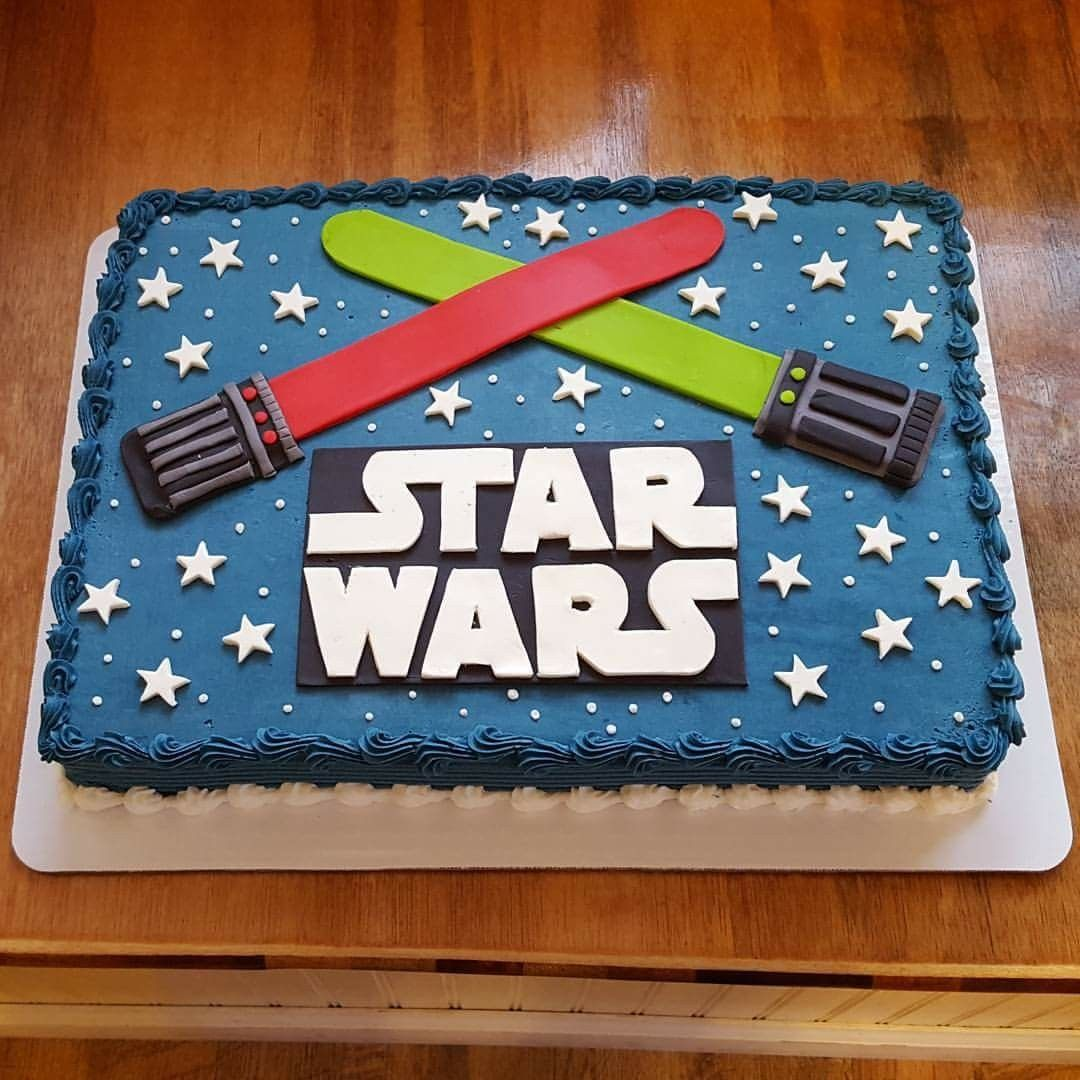 Wondrous Star Wars Sheet Cake By Curtis C Cakes With Images Star Wars Birthday Cards Printable Giouspongecafe Filternl