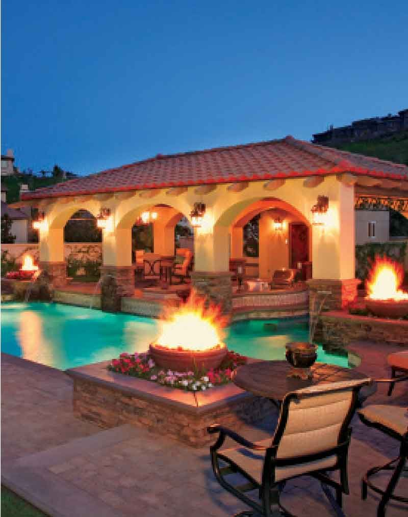 Spanish Style Landscape With A Pool Pools With Pizzazz Landscaping Landscape Care Ideas