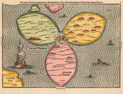 Jerusalem Center Of The World Map.1581 World Map Jerusalem Is Depicted As The Center Of The World In