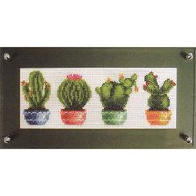 COUPON  Cross Stitch Kit Potted Cacti by CrossStitchKitsOnly, $21.00