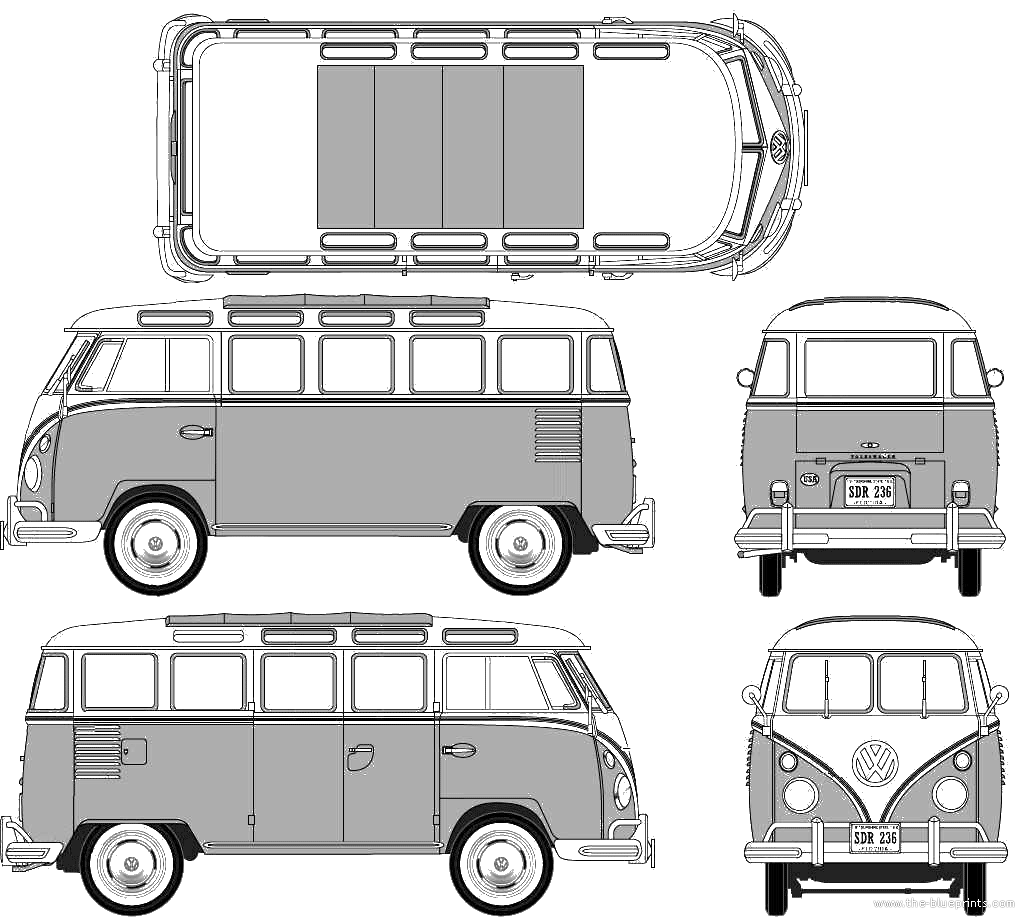 Google image result for httpthe blueprintsblueprints volkswagen samba blueprints vector drawings clipart and pdf templates malvernweather Image collections