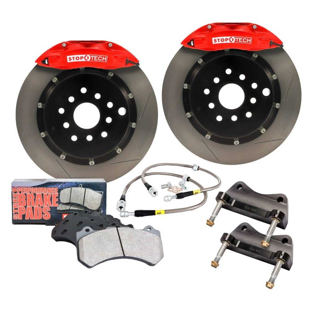 Stoptech Front Disc Brake Kit Red Fiesta St 2014 2016 Fiesta St