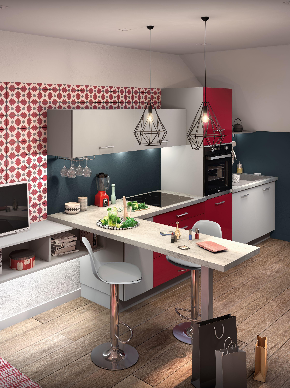 Cuisines Equipees Modeles De Cuisines Equipees Par Socoo C Cuisine Loft Cuisine Appartement Cuisine Equipee Moderne