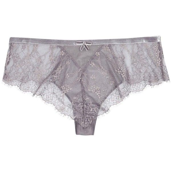 Simone Pérèle Grey Lace Briefs (€17) ❤ liked on Polyvore featuring intimates, panties, underwear, lingerie, grey lingerie, lacy panties, underwear lingerie, briefs panties and underwear panties