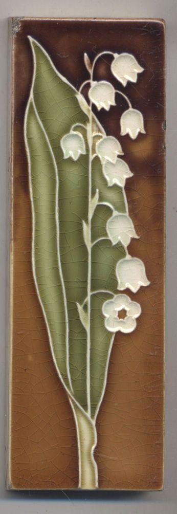 Super Rare Wessel Maiglöckchen Jugendstil Fliese Art Nouveau Tile - Wessel keramik fliesen