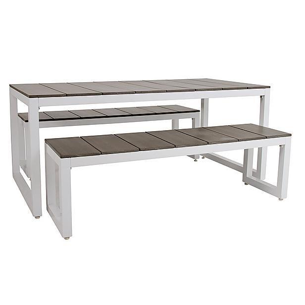 Livin'garden picknickset Calvados Afmetingen: tafel 160x85x72 cm bank 140x42,5x42,5 cm