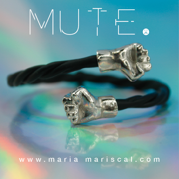 mute coleccion 2016   brazalete poder en laton negro mate y baño de rodio    mute colection 2016  black and rodized brass power bracelet     Coming soon to online shop.    info hola@mariamariscal.com