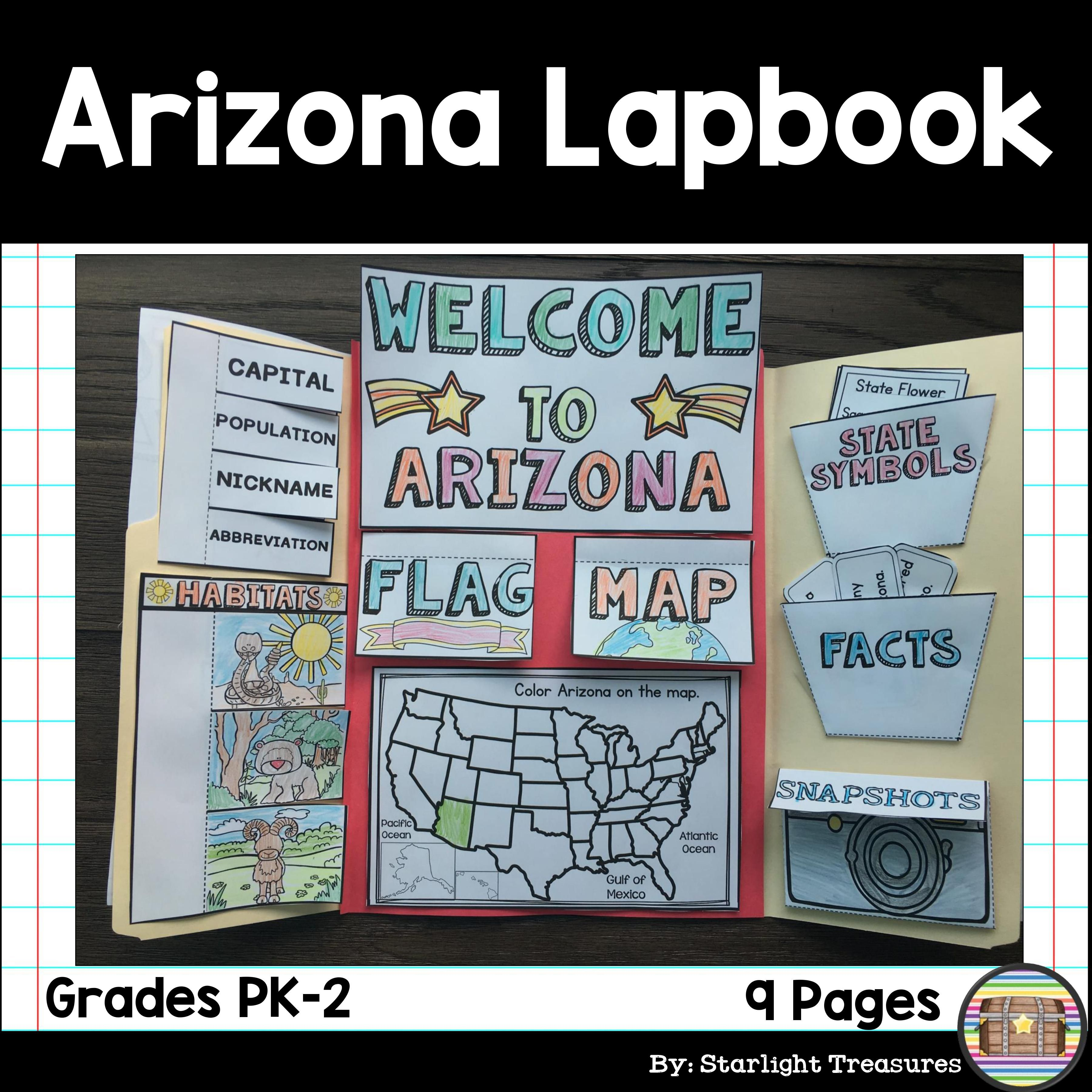 Arizona Lapbook For Early Learners