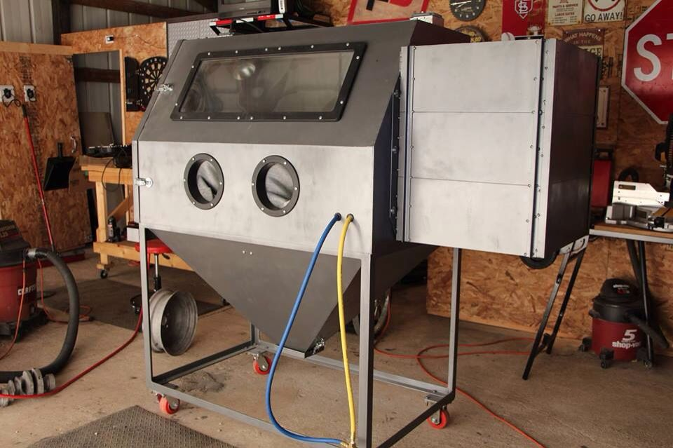Homemade Sandblasting Cabinet Garage Workshop Pinterest Homemade Metal Working And