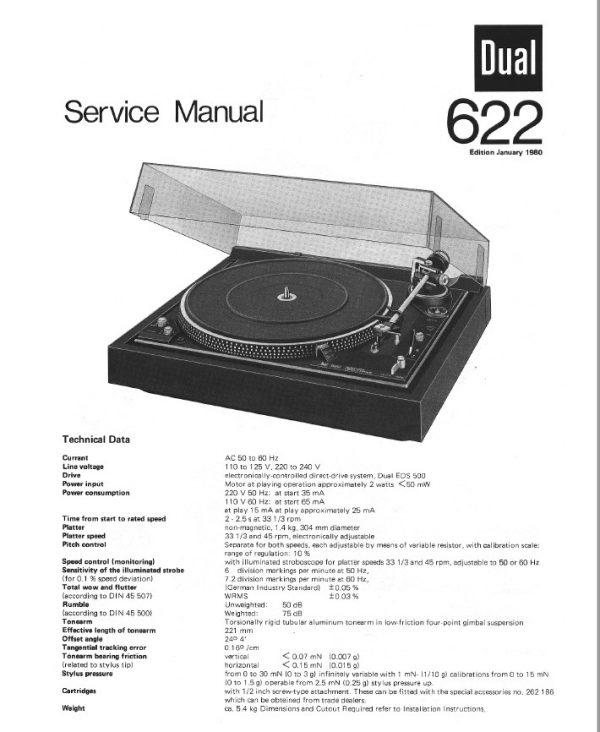 Dual 622 Turntable Service Repair Manual Hey Downloads In 2020 Turntable Repair Manuals Manual