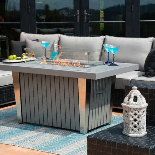 Fire Pit Table Propane Outdoor Backyard Patio Gas Heater Fireplace Deck W/  Cover