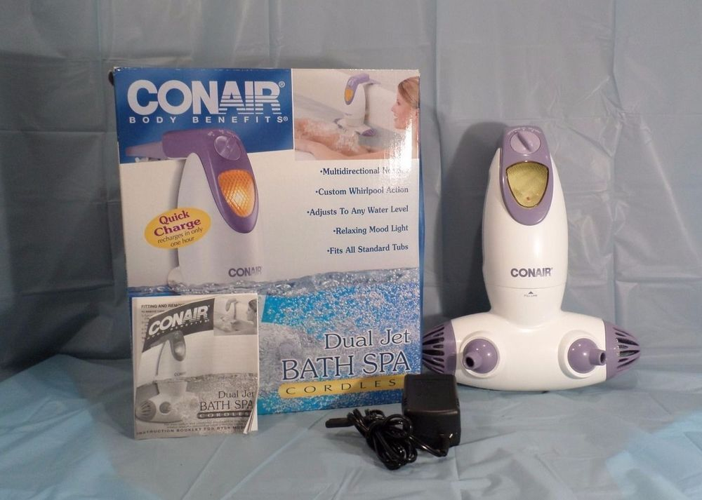 Conair Dual Jet Bath Spa Whirlpool Action Tub Body Benefits Cordless ...